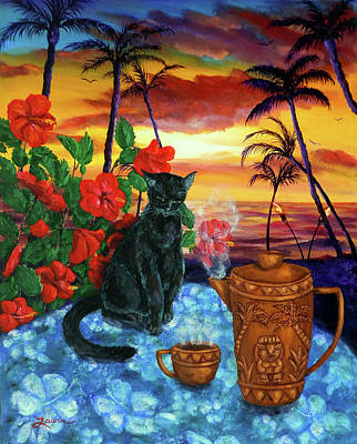 Torch Painting - Kona Kat by Laura Iverson