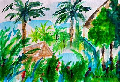 Frier Painting - Kona Palms  by Jamie Frier