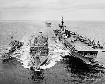 Korean War: Ship Refueling Print by Granger