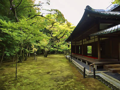 Tea Rooms Photograph - Koto-in Zen Temple Maple And Moss Garden - Kyoto Japan by Daniel Hagerman