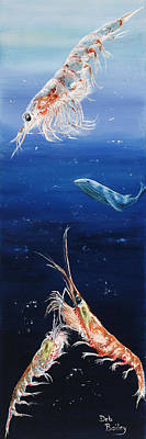 Krill Print by Debra Bailey