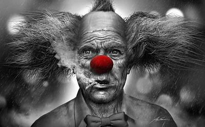Clown Digital Art - Krusty The Clown by Alex Ruiz