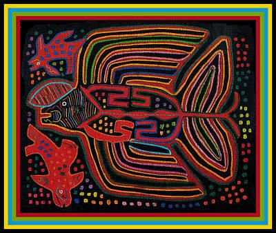 Esprit Mystique Digital Art - Kuna Indian Flying Fish  by Witches Hammer - Virginia Vivier