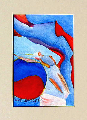 Woman Doing Yoga Painting - Kundalini Rising by Kristin  Morrill