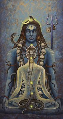 Cobra Painting - Kundalini Shakti by Vrindavan Das