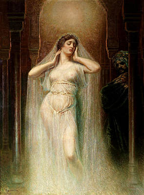 Parsifal Painting - Kundry by Rogelio de Egusquiza
