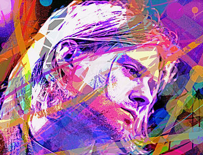 Pop Icon Painting - Kurt Cobain 27 by David Lloyd Glover