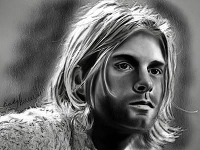 Kurt Cobain Painting - Kurt Cobain- Nirvana by Becky Herrera
