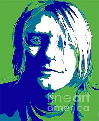 Rocks Love Too Painting - Kurt Cobain Nirvana by Margaret Juul