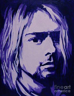 Rocks Love Too Painting - Kurt Cobain Nirvana Spotlight by Margaret Juul