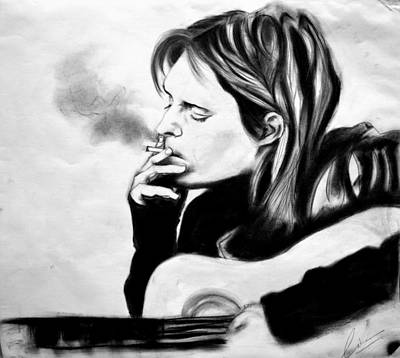 Alternative Rock Band Drawing - Kurt Donald Cobain by Chetan  Raj Pandey