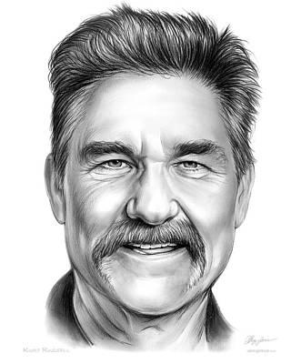 Westerns Drawing - Kurt Russell by Greg Joens