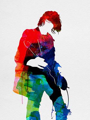 British Digital Art - Kurt Watercolor by Naxart Studio