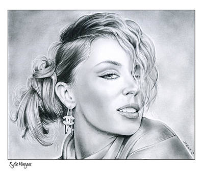 Hall Of Fame Drawing - Kylie Minogue by Greg Joens