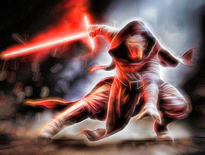 Saber Digital Art - Kylo Ren I Will Fulfill Our Destiny by Scott Campbell
