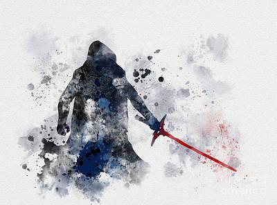 Star Wars Mixed Media - Kylo Ren by Rebecca Jenkins