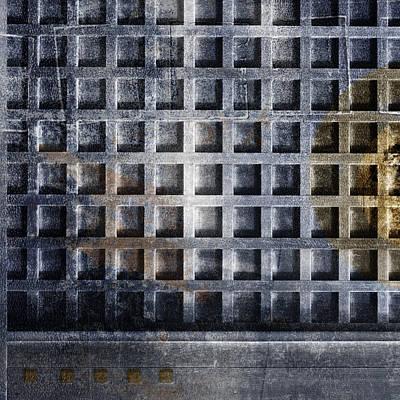 Rectangles Digital Art - Kyoto Doorways In Blue Series 4 by Carol Leigh