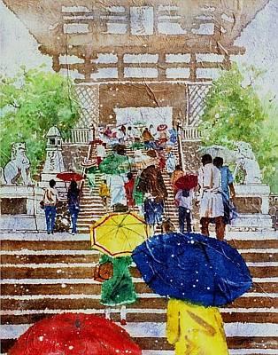 Kyoto Painting - Kyoto Japan by John YATO