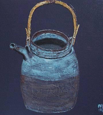 Raku Painting - Kyusu by Nick Young