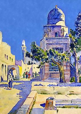 Simpsons Painting - L W Simpson Mosque Of Omar by Munir Alawi