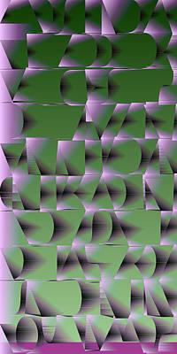 Drawing Digital Art - l13-FFC4F2-2x4-1200x2400 by Gareth Lewis