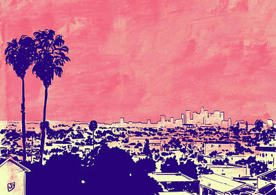 Los Angeles Drawing - La 001 by Giuseppe Cristiano