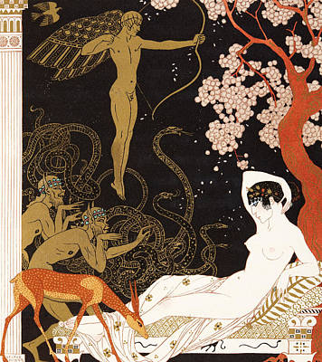 La Belle Helene Print by Georges Barbier