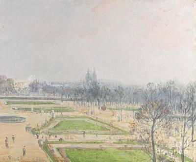 La Charrue Delteil  Print by Camille Pissarro
