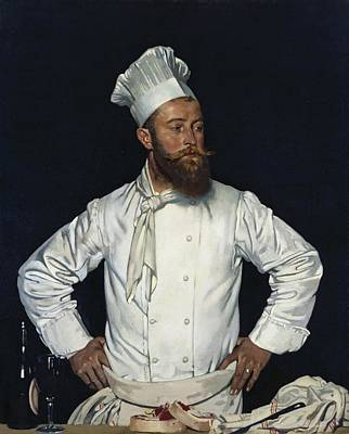 Chatham Painting - La Chef De L'hotel Chatham Paris by Mountain Dreams