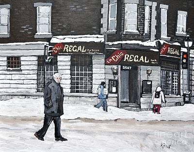 Montreal Painting - La Chic Regal Pointe St. Charles by Reb Frost