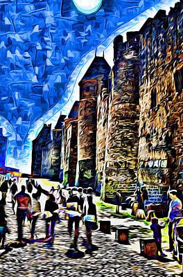 La Cite De Carcassonne 02 Paint Print by Kris Woo