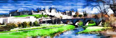La Cite De Carcassonne Print by Kris Woo