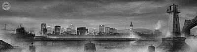 Canadiens Digital Art - La Cite Lumiere by Mirage Noir
