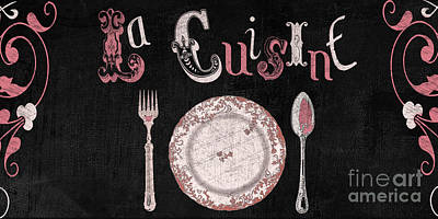 Dinner Painting - La Cuisine Vintage Dinner Plate by Mindy Sommers