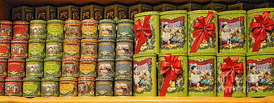 Candy Digital Art - La Cure Gourmande - Candy Tins by Mary Machare