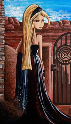 Evening Gown Mixed Media - La Entrada by Debbie Horton
