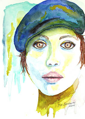 Bright Watercolor Portrait Bright Watercolor Painting - La Femme by Dale Wesley Ziebarth