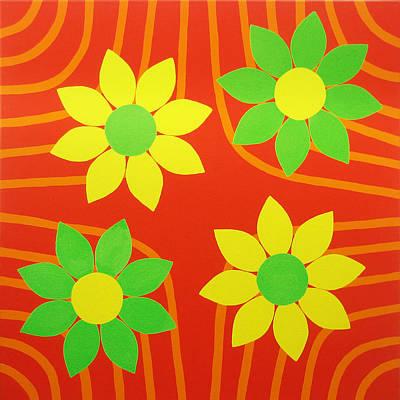 Lively Painting - La Flor De La Vida by Oliver Johnston