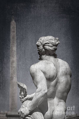 Stylized Photograph - La Fontana Del Moro - Rome by Rod McLean