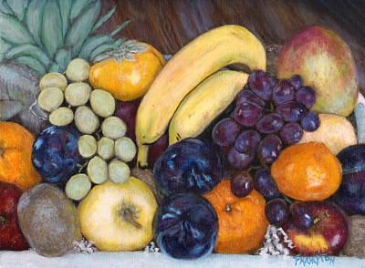La Frutta In Cucina Print by Jennifer Frampton