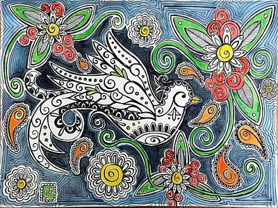 Paisley Drawing - La Golindrina by John Parish