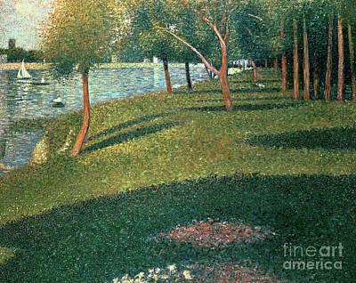 Pointillist Painting - La Grande Jatte by Georges Pierre Seurat