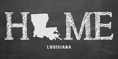 Louisiana State University Mixed Media - La Home by Nancy Ingersoll
