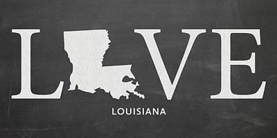 Louisiana State University Mixed Media - La Love by Nancy Ingersoll