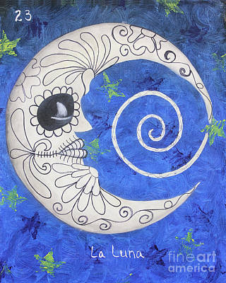 Oaxacan Painting - La Luna by Sonia Flores Ruiz