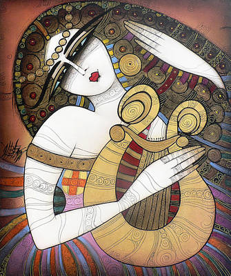 Painting - La Lyre by Albena Vatcheva