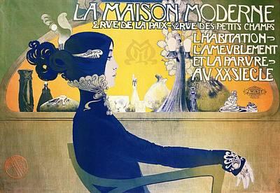 Female Mixed Media - La Maison Moderne by Manuel Orazi
