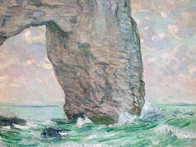 La Manneporte A Etretat Print by Claude Monet
