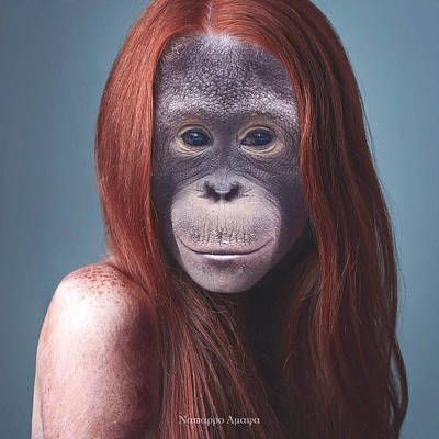 Orangutan Digital Art - La Mona Lisa by Nestor Navarro