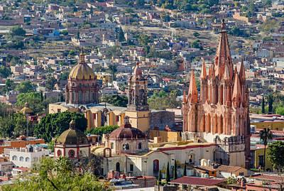 Aerial View Photograph - La Parroquia De San Miguel Arcangel by Rob Huntley